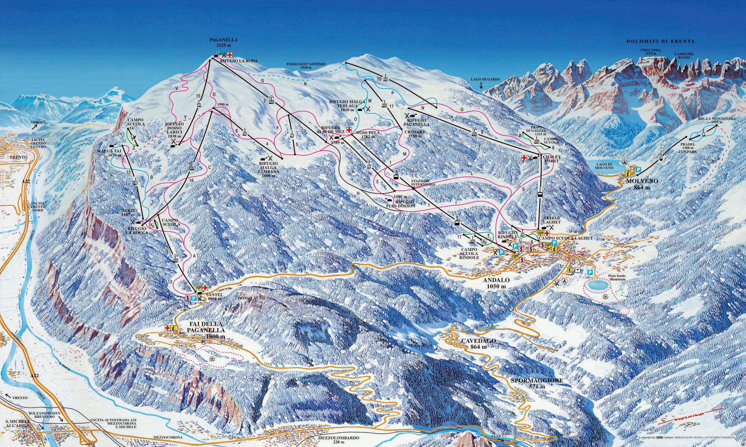 andalo-ski-mapa
