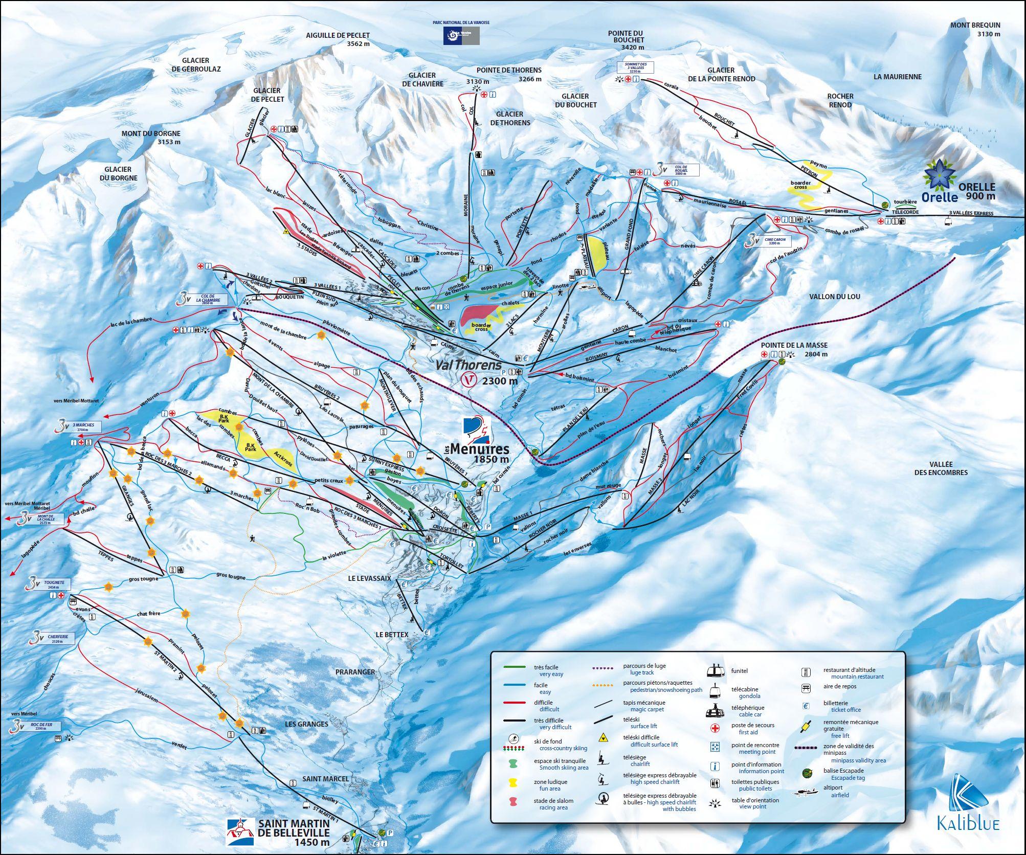 les-menuires-ski-mapa