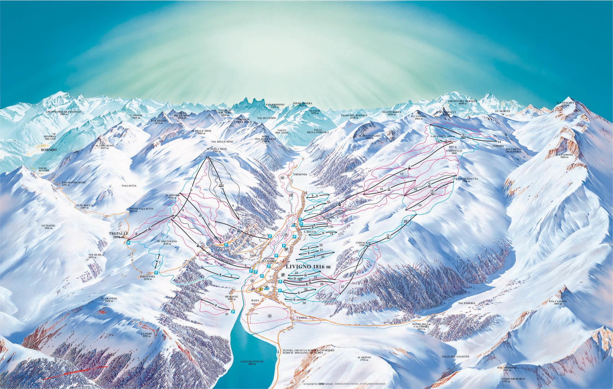 obereggen-ski-mapa