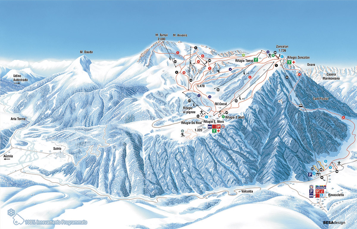ravascletto-ski-mapa