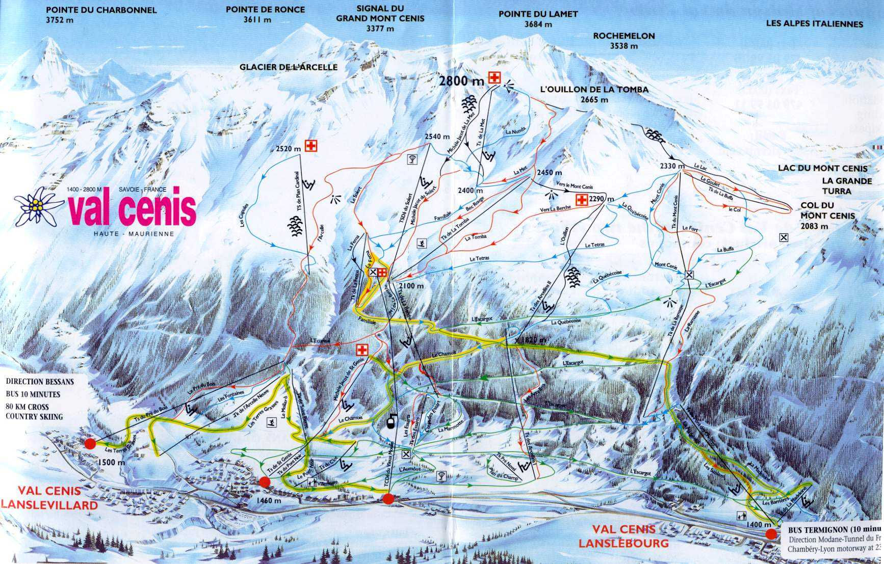 val-cenis-ski-mapa